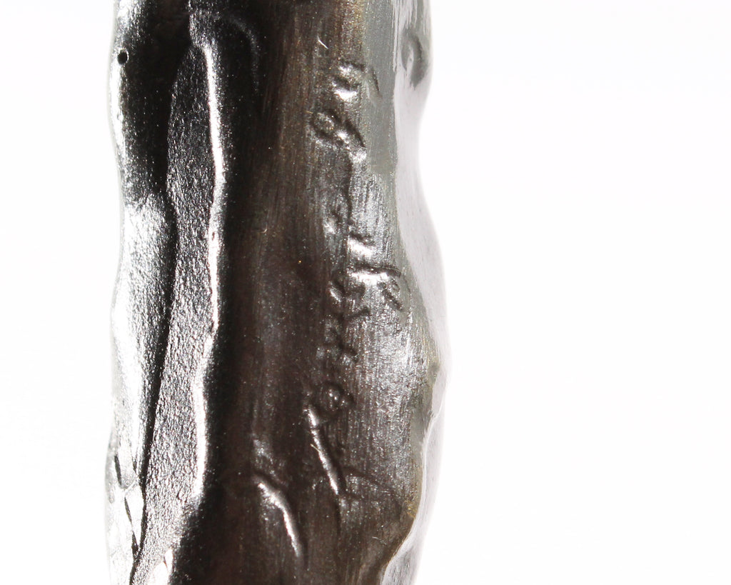 Louis Longi 1999 Signed Abstract Bronze Sculpture of a Figure