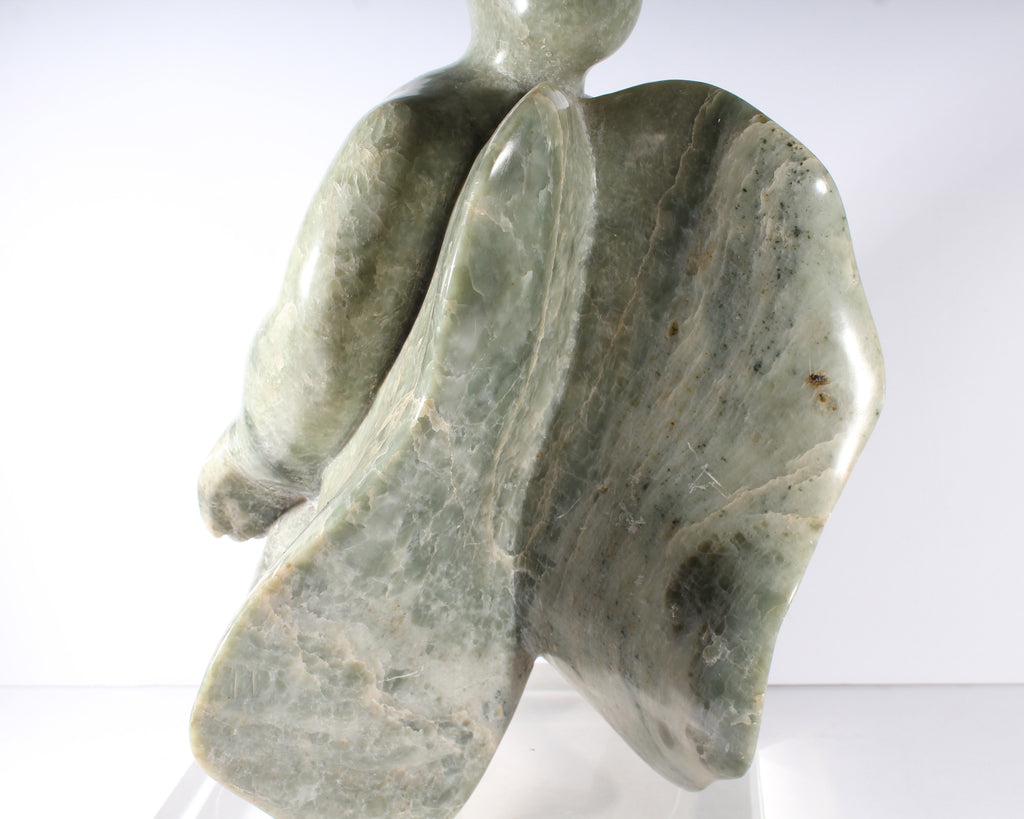 Elaine Hyman Signed Carved Stone Sculpture of an Abstract Figure