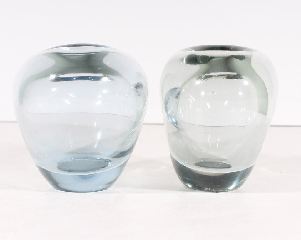 "Per Lütken for Holmegaard Danish Heart-Shaped ""Minuet"" Glass Vases"