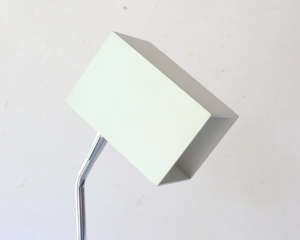 Robert Sonneman for George Kovacs Chrome White Cube Shade Floor Lamp