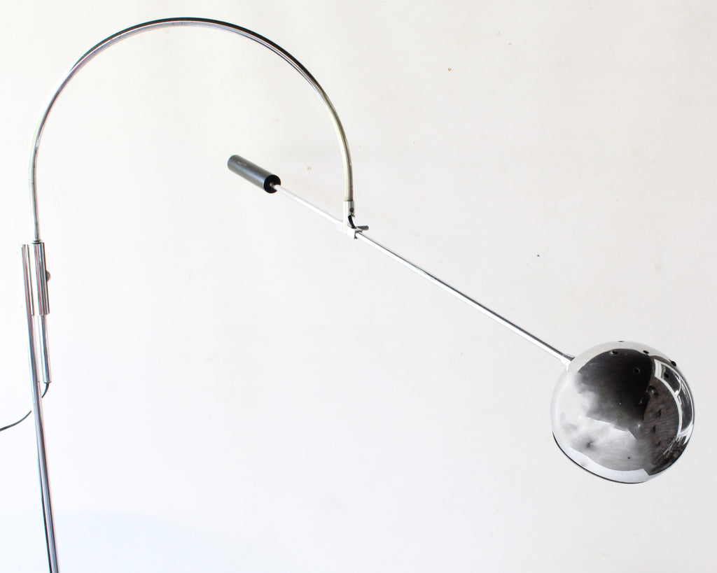 Robert Sonneman Chrome Orbiter Floor Lamp