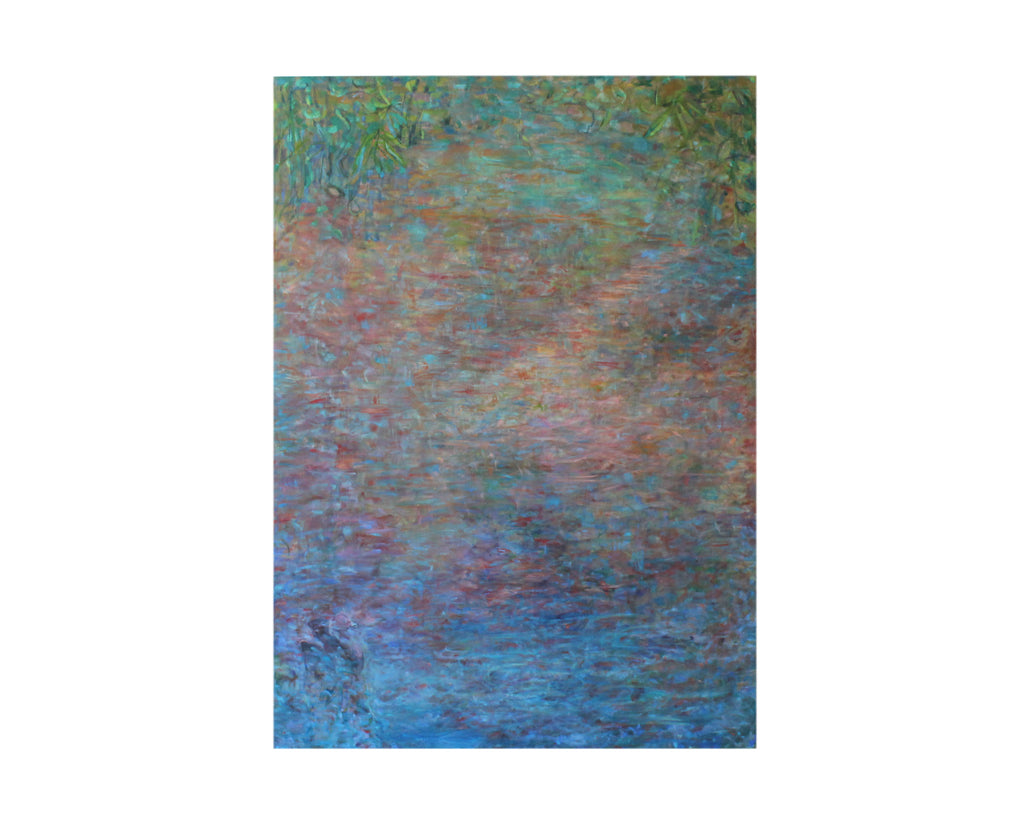 "Ronald D. Newman Signed Oil on Canvas ""Voice on the Water"" Abstract Painting"
