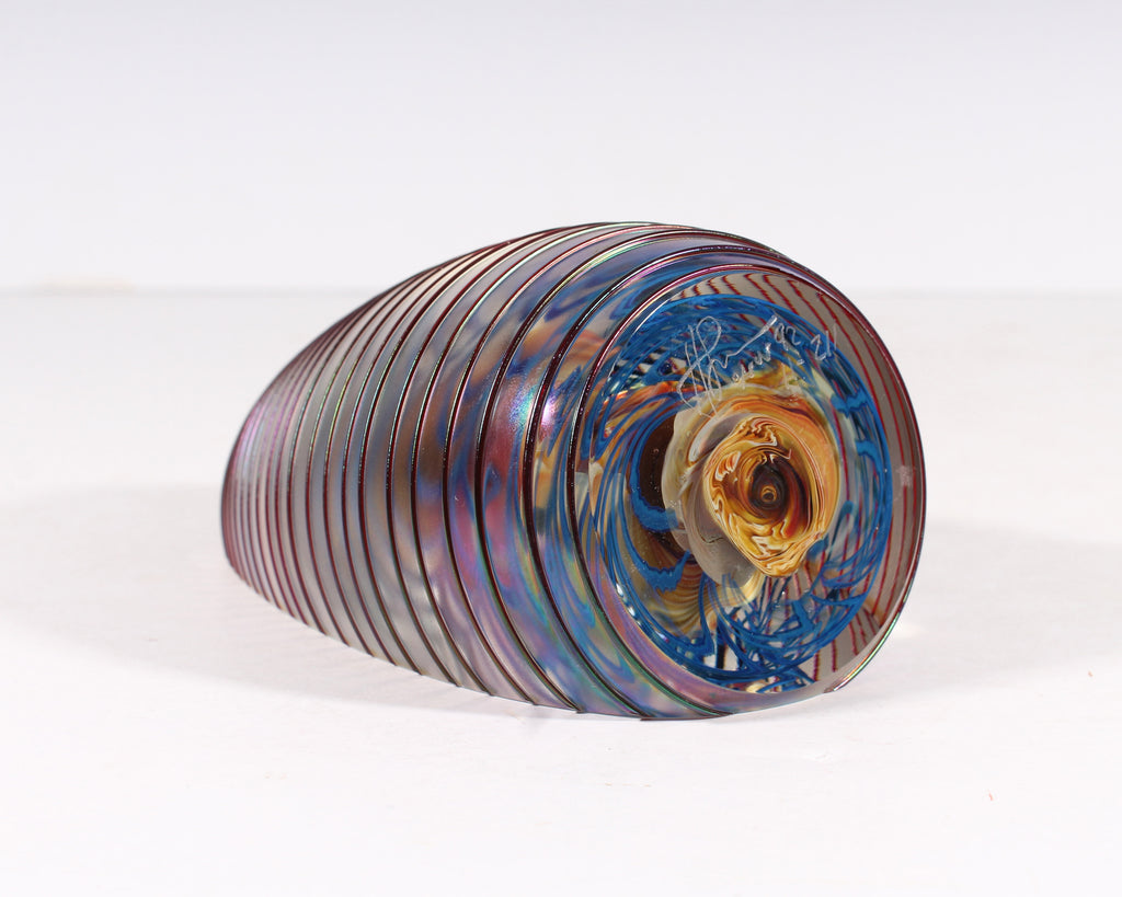 Henry Summa Signed 1992 Art Glass Paperweight