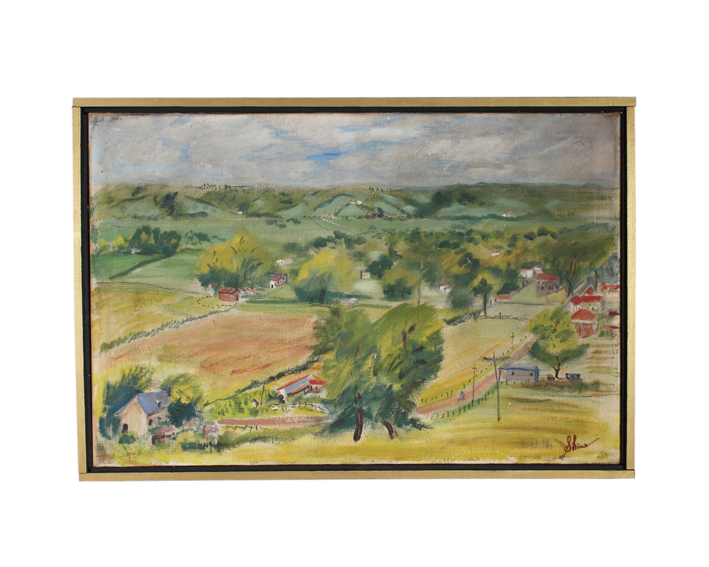 Carolyn Shine Signed Oil on Canvas Landscape of Kentucky
