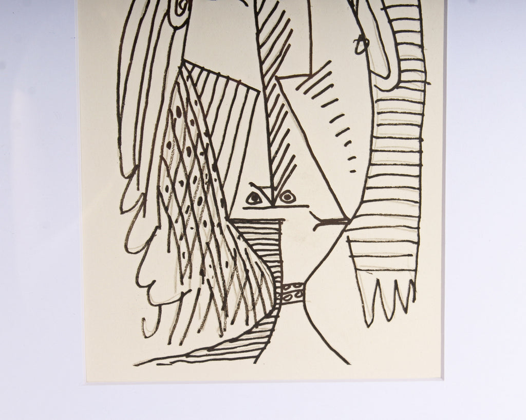 "Pablo Picasso 1970 Lithograph After Drawing from ""Le Goût de Bonheur"""