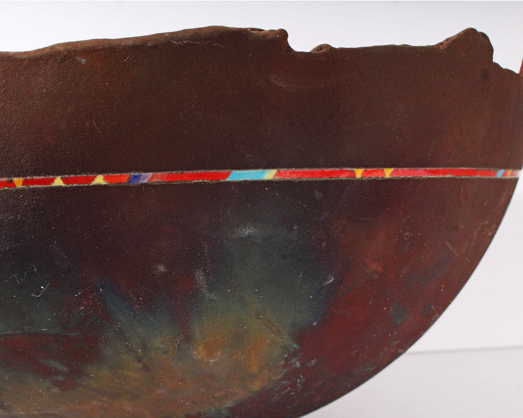 Karl Borgeson Signed Raku Studio Pottery Bowl