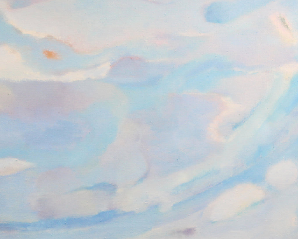 "Ronald D. Newman 1970 Signed Oil on Canvas ""Heavens"" Abstract Painting"
