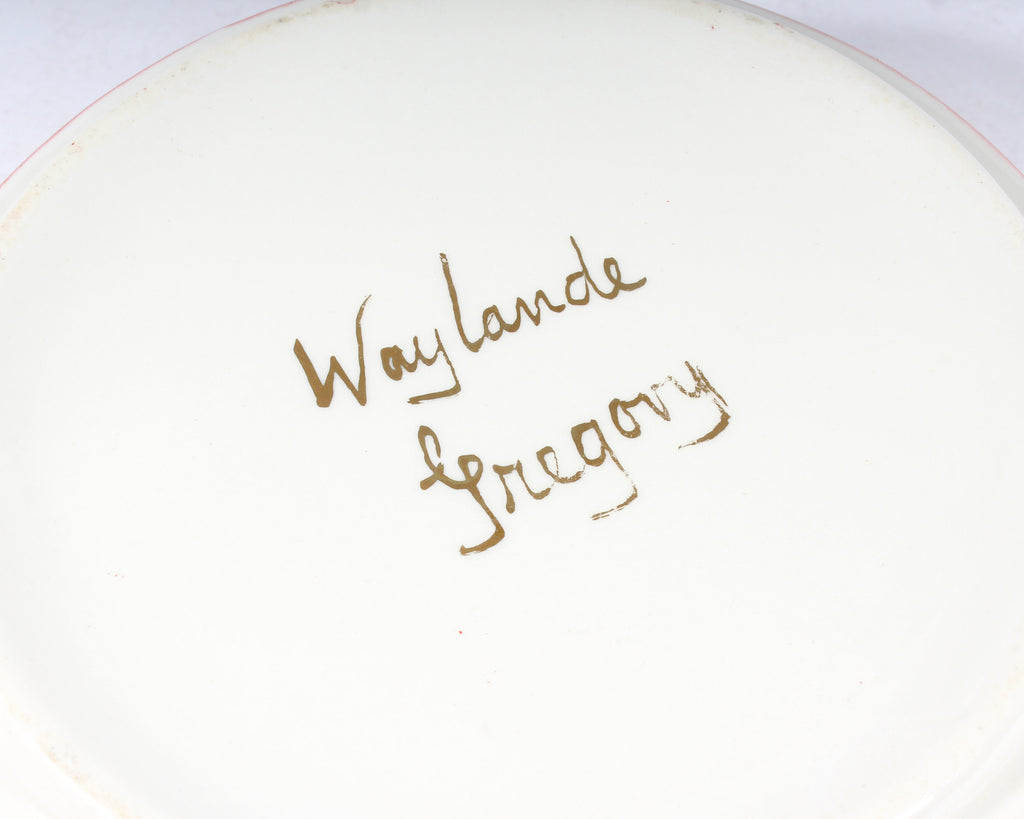 Waylande Gregory Signed Mid-Century Dish with Leaping Deer