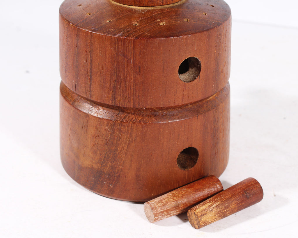 Jens Quistgaard for Dansk 1960s #857 Teak Pepper Mill and Salt Shaker