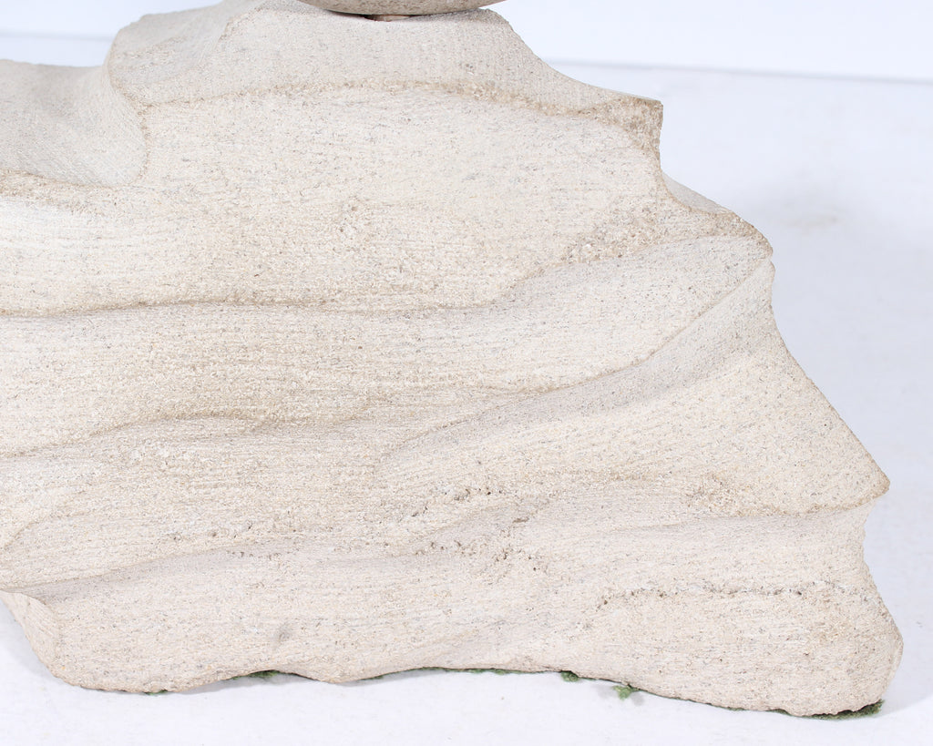 Charles Schiefer 1977 Signed Abstract Stone Fish Sculpture