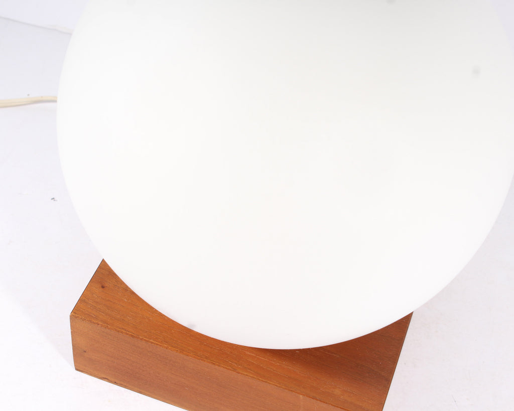 Mid Century Modern Table Lamp With Teak Wood Base