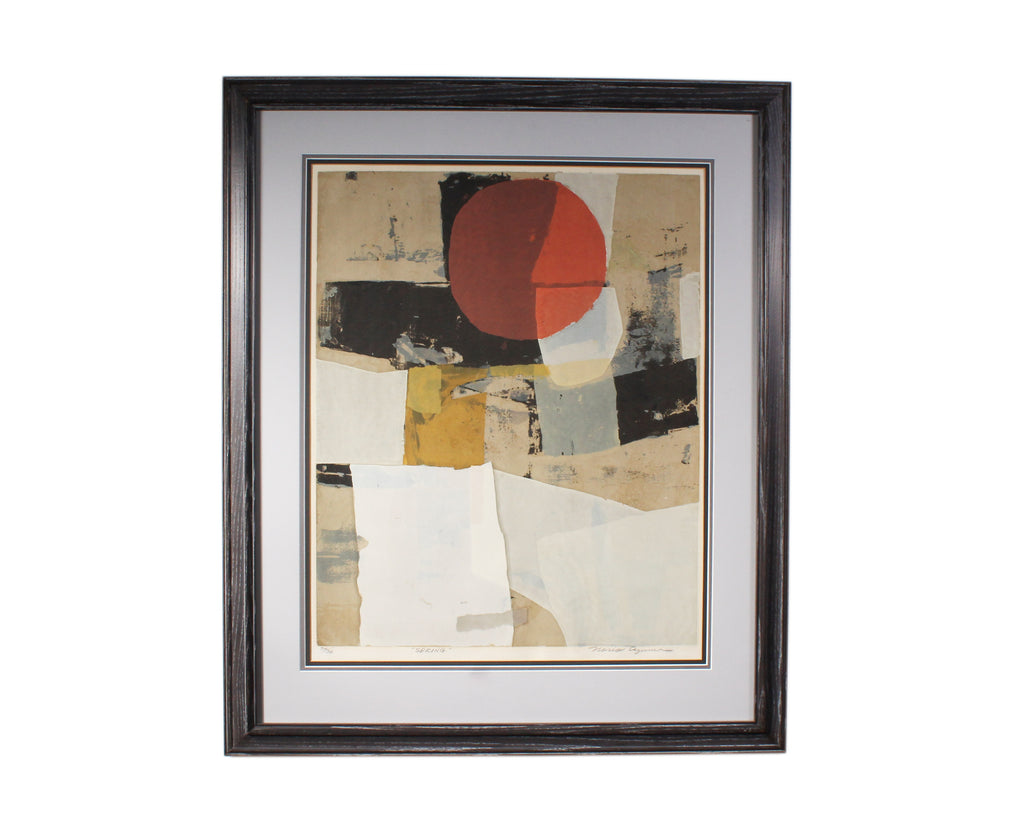 "Norio Azuma Signed Limited Edition ""Spring"" Abstract Serigraph"