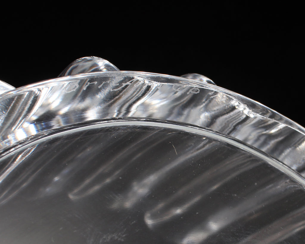"Sven Palmqvist for Orrefors ""Princess Crown"" Crystal Bowl"