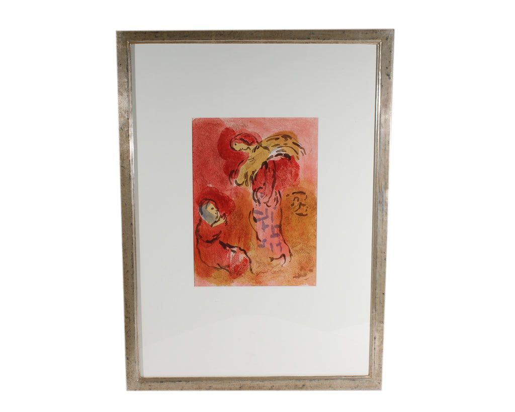 "Marc Chagall 1960 Lithograph ""Ruth Glaneuse"" from ""Verve"""