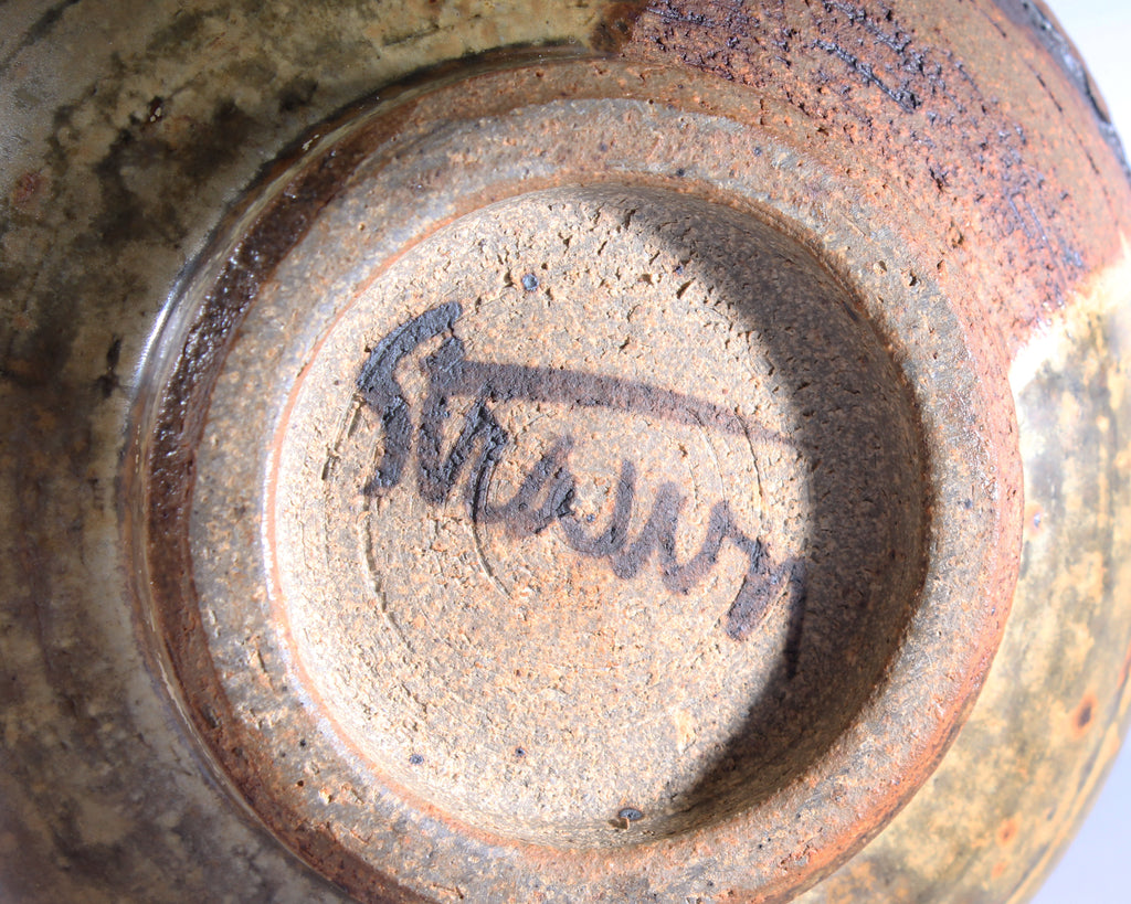 Cecil Strawn Signed Studio Pottery Bowl