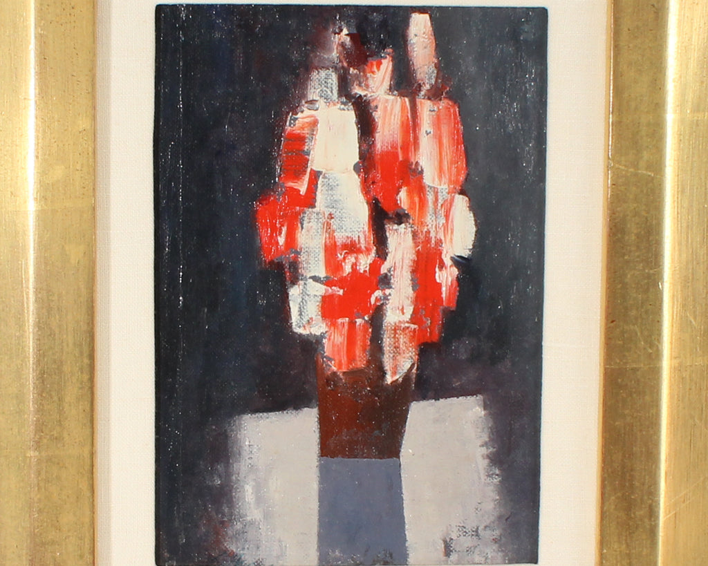 Charles Green Shaw Signed Oil on Board Abstract Still Life Painting