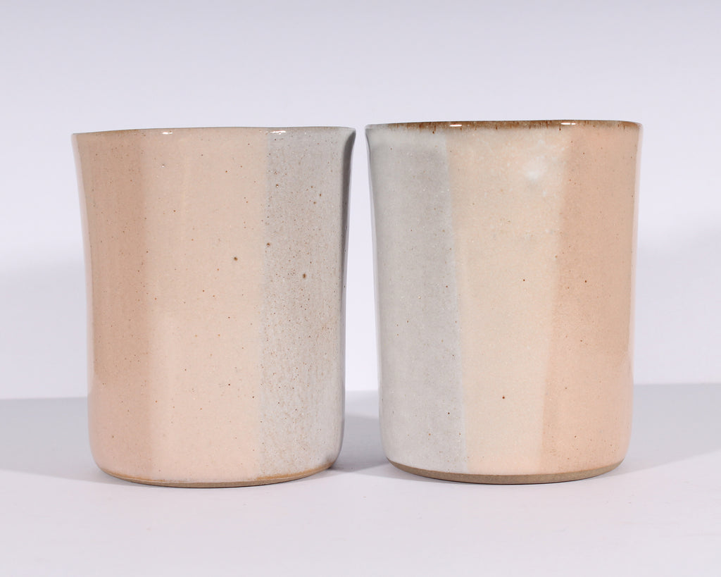 Martz Marshall Studios Pink and White Tumblers