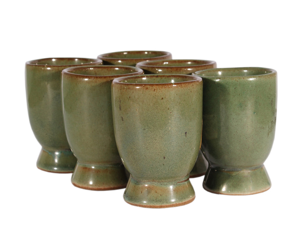 Martz Marshall Studios Set of Green Small Wine Cups