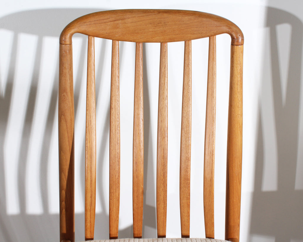 Benny Linden BL10 Set of Six Danish Modern Teak Dining Chairs