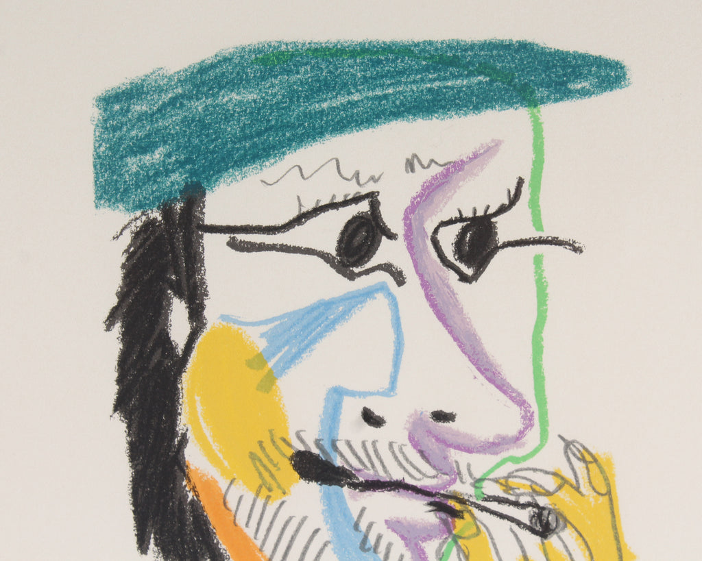 "Pablo Picasso 1970 Lithograph After Drawing from ""Le Goût du Bonheur"""