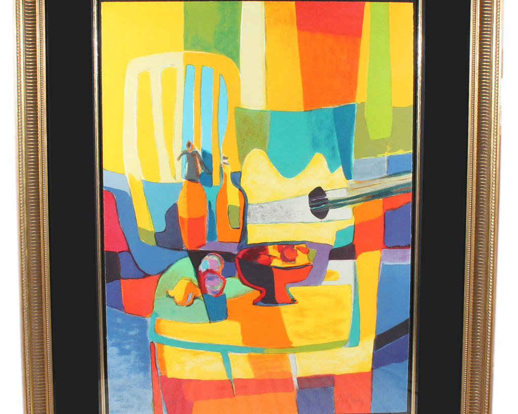 Marcel Mouly Signed Limited Edition Cubist Style Still Life Lithograph