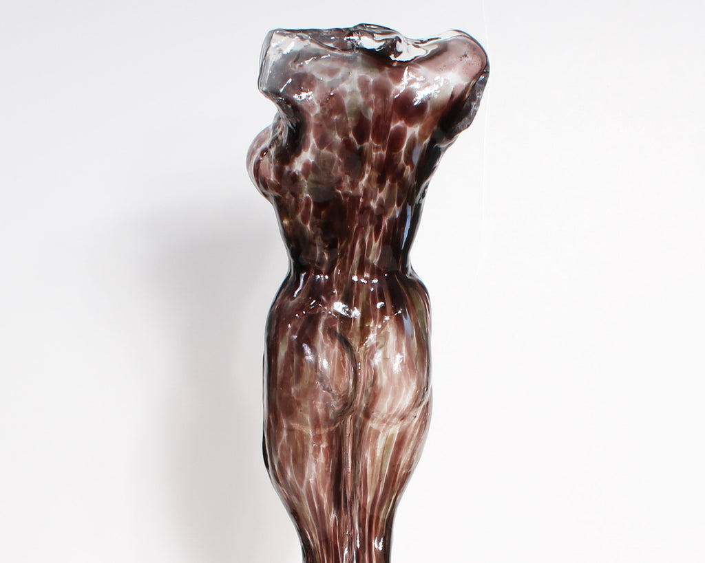 Ion Tamaian Signed Art Glass Nude Sculpture