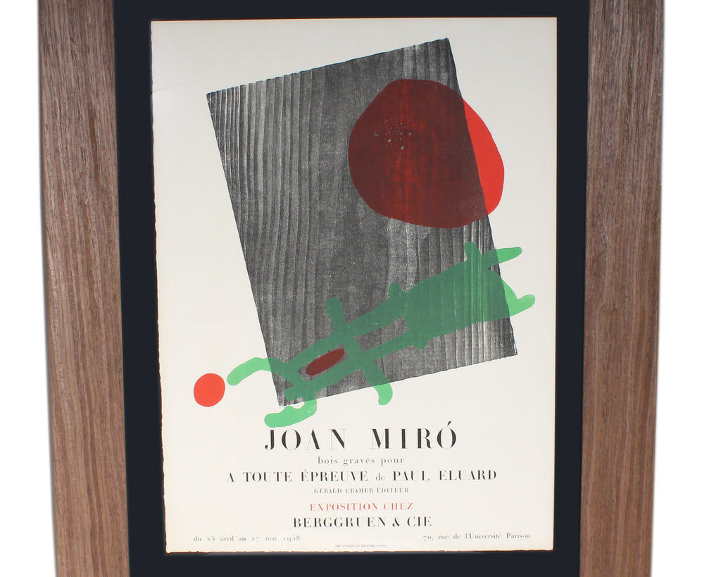 Joan Miró 1958 Lithograph Exhibition Poster