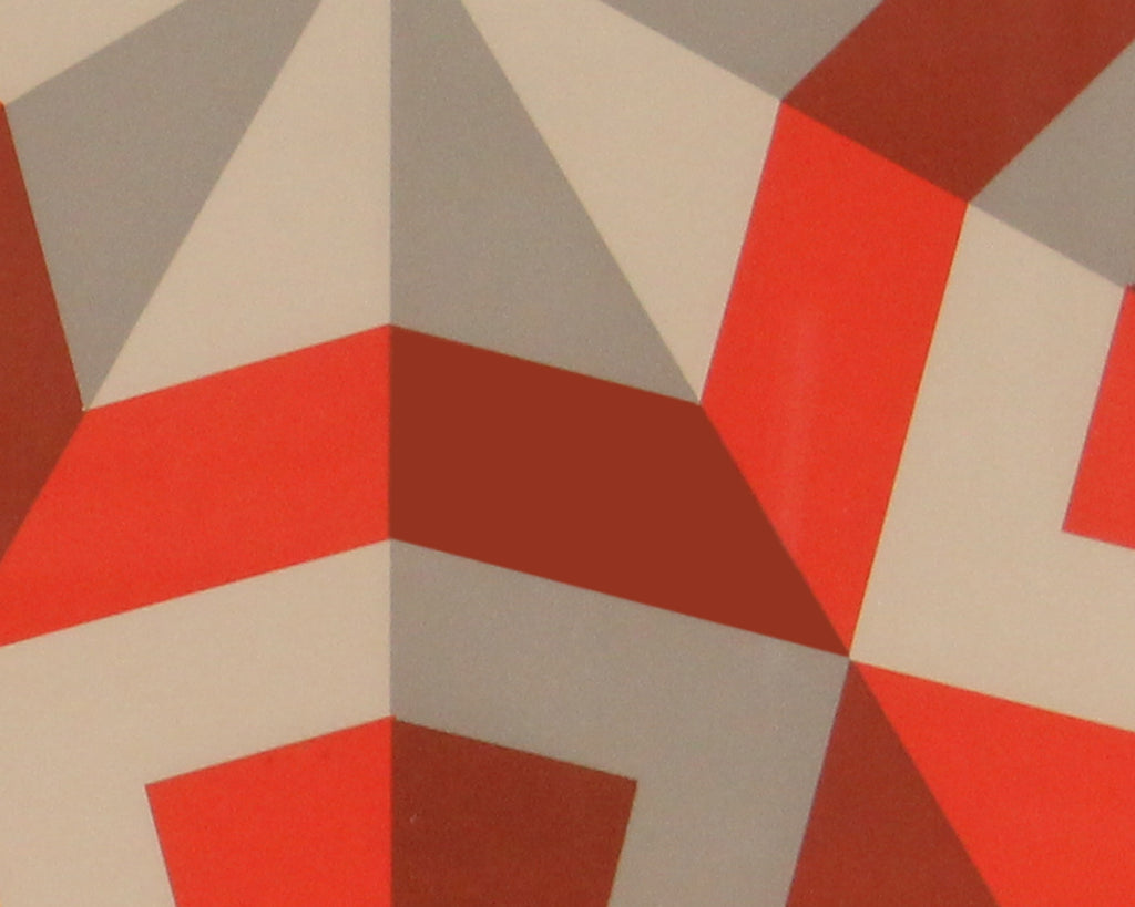 "Marko Spalatin Signed Limited Edition Op Art Serigraph ""Hexagon III"""