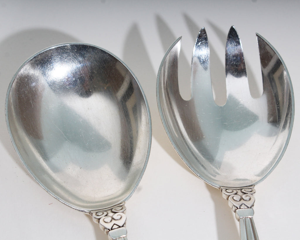 "Georg Jensen ""Acorn"" Sterling Silver Serving Set"