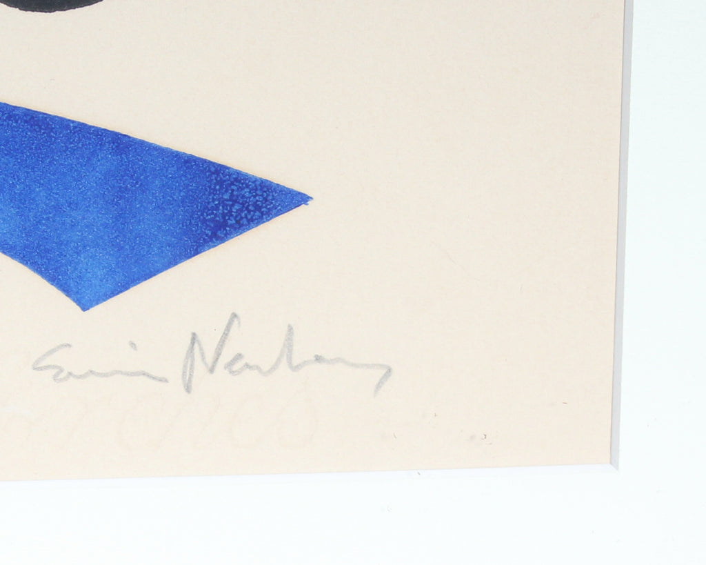 Eric Newton Signed Limited Edition Abstract Woodblock Print