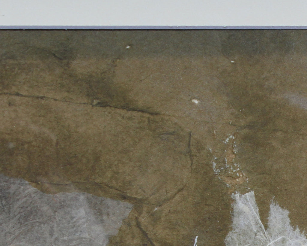 Charles E. Barnes Signed Abstract Landscape Paper Collage