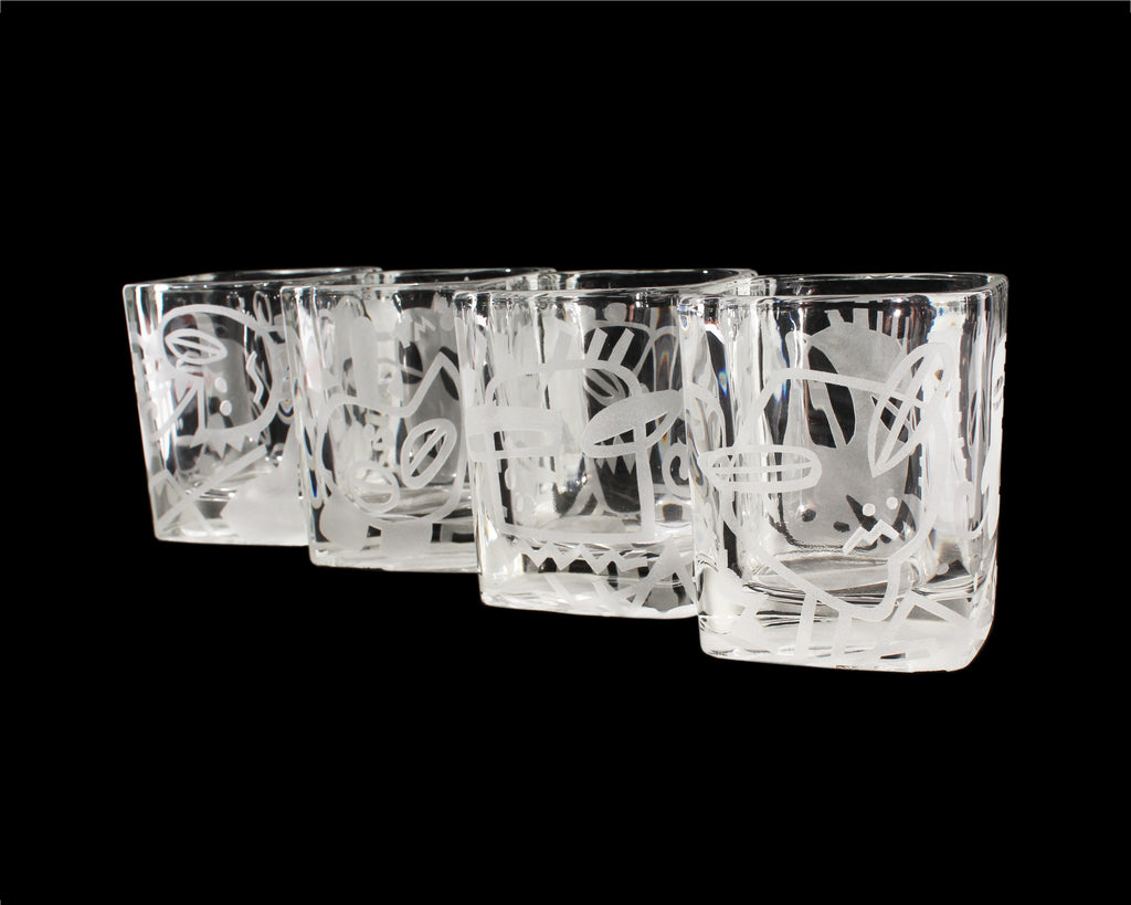 Terence Main 1985 Crystal Highball Glasses