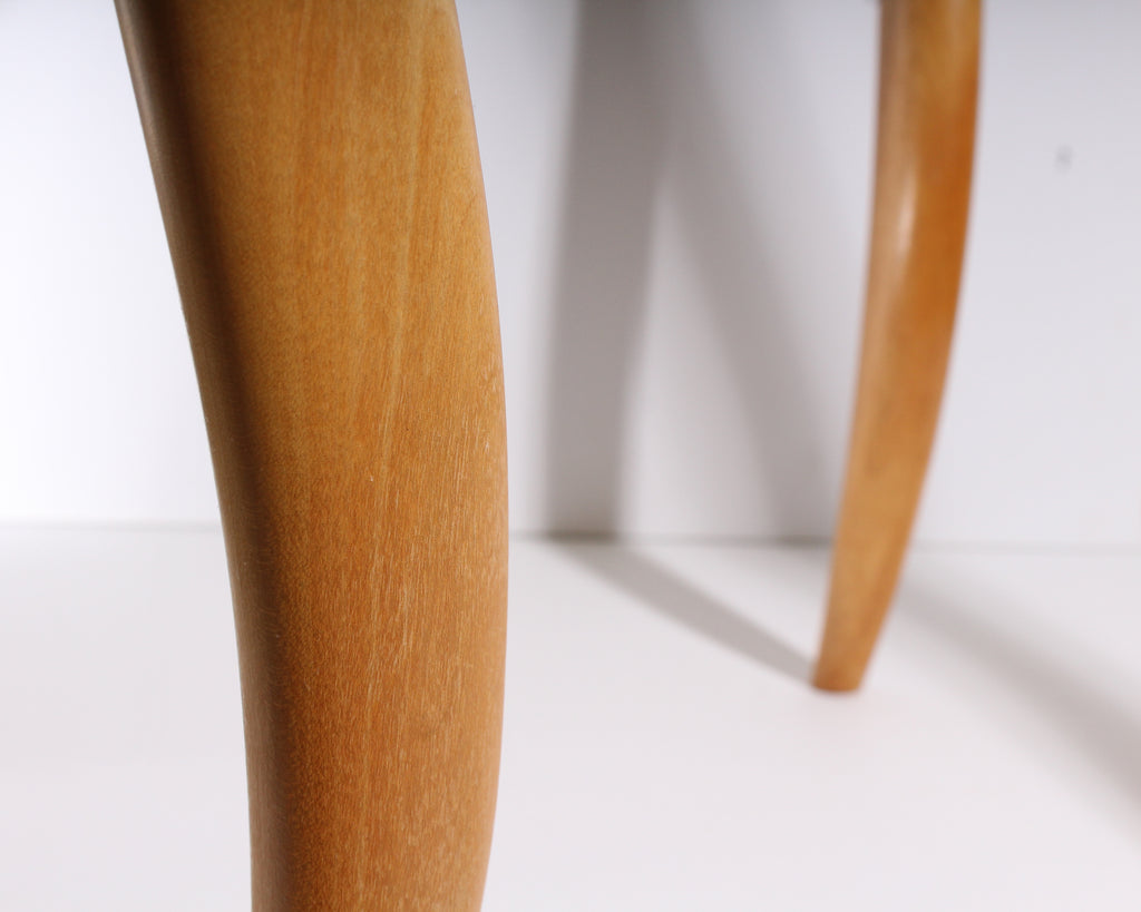 "Bob Trotman 1988 ""Dancing Table"" Postmodern Wooden Accent Table"
