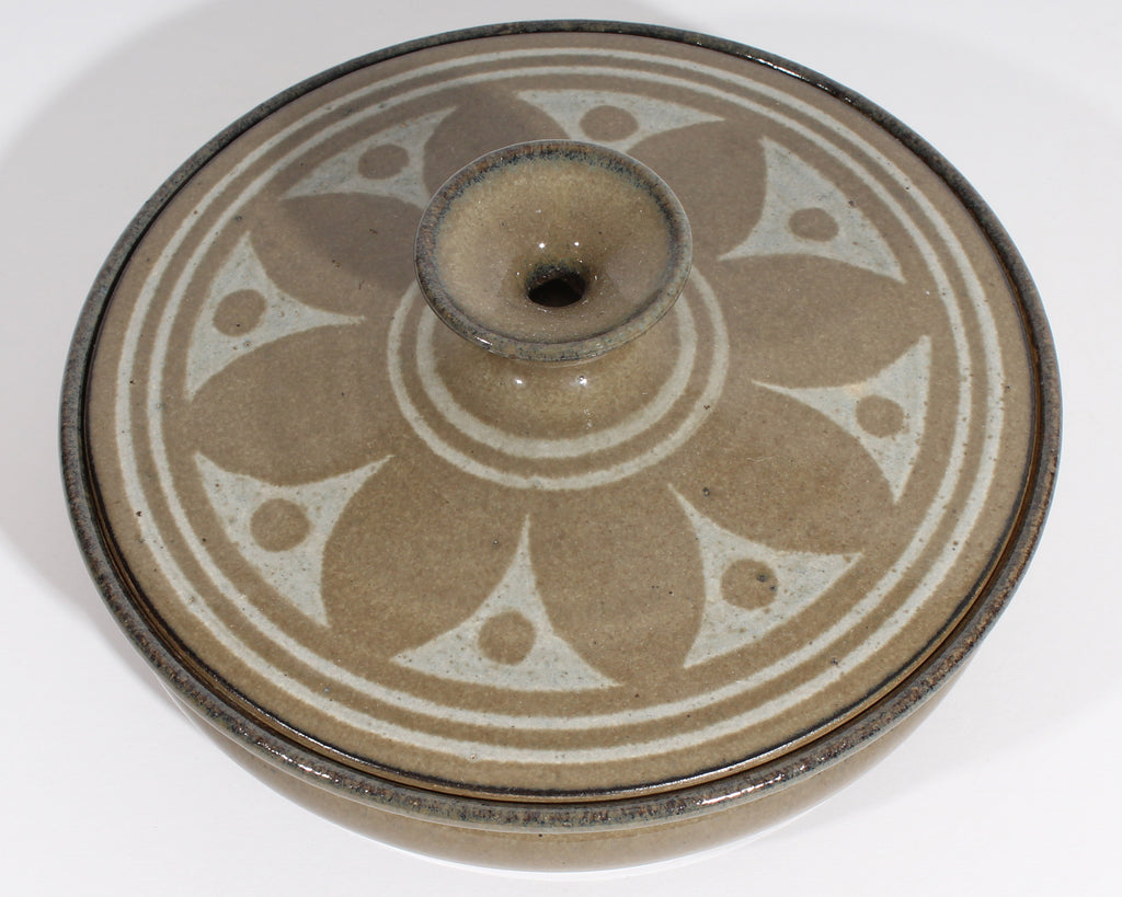 Lucian Krawczyk 1986 Signed Studio Pottery Covered Dish Box