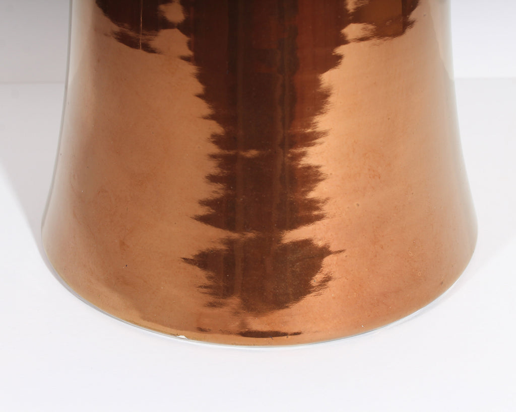 Bitossi for Raymor Italian Mid-Century Copper and Gold Luster Ceramic Vase