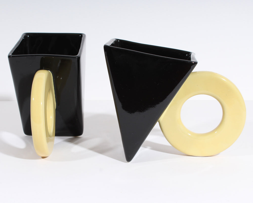 Feltman Langer Postmodern Black and Yellow Prism Mugs