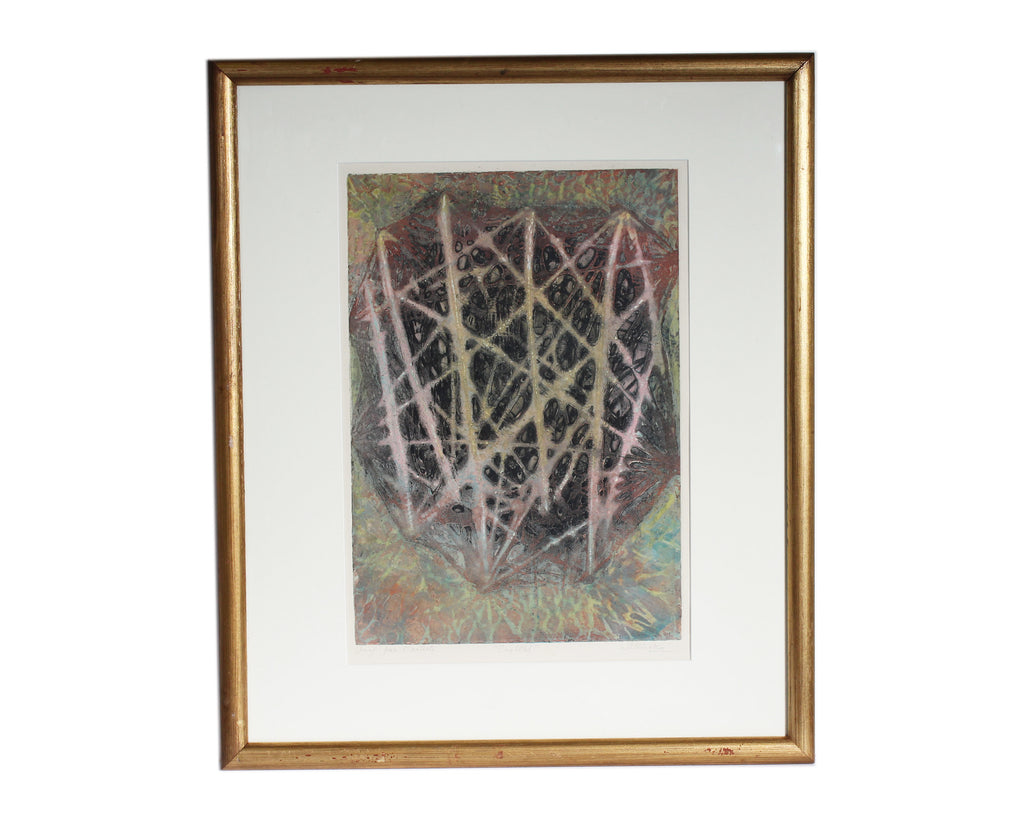 "Shirley Witebsky Signed Artist's Proof  ""Crystal"" Abstract Aquatint"