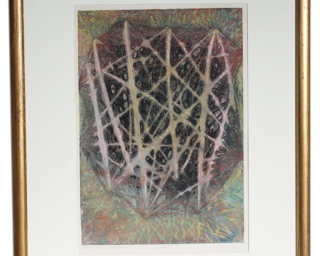 "Shirley Witebsky Signed Artist's Proof  ""Crystal"" Abstract Color Etching"