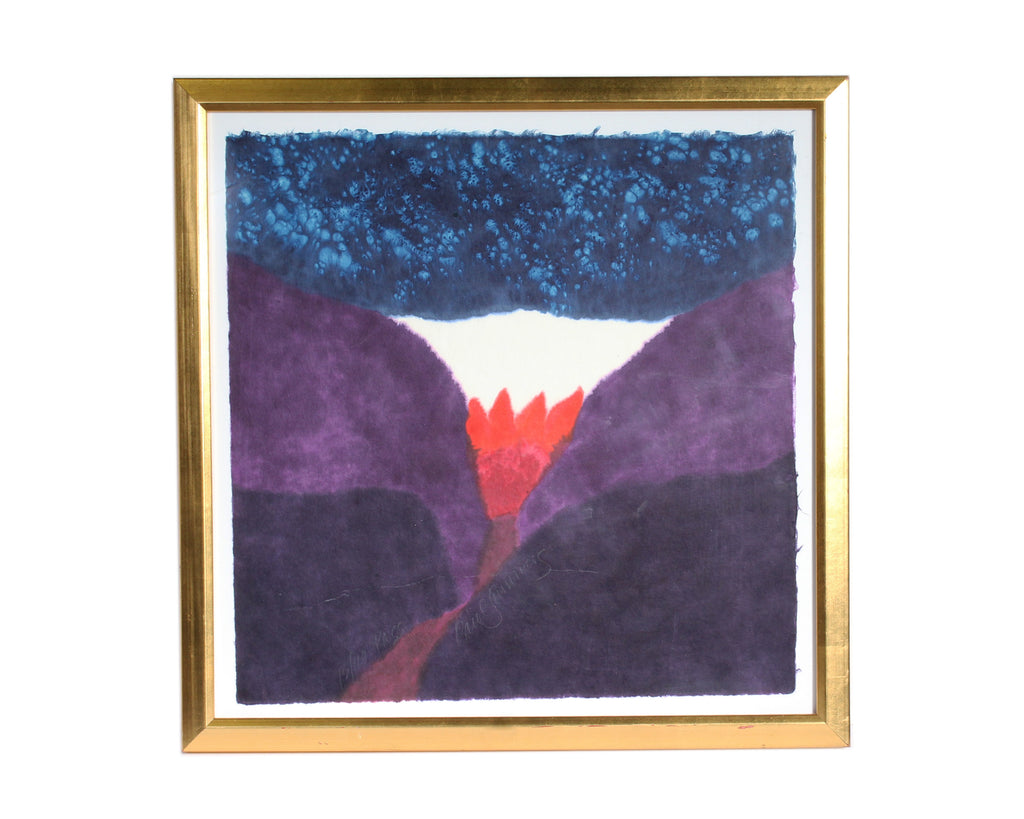 "Carol Summers Signed Limited Edition ""Pass"" Abstract Color Woodcut"