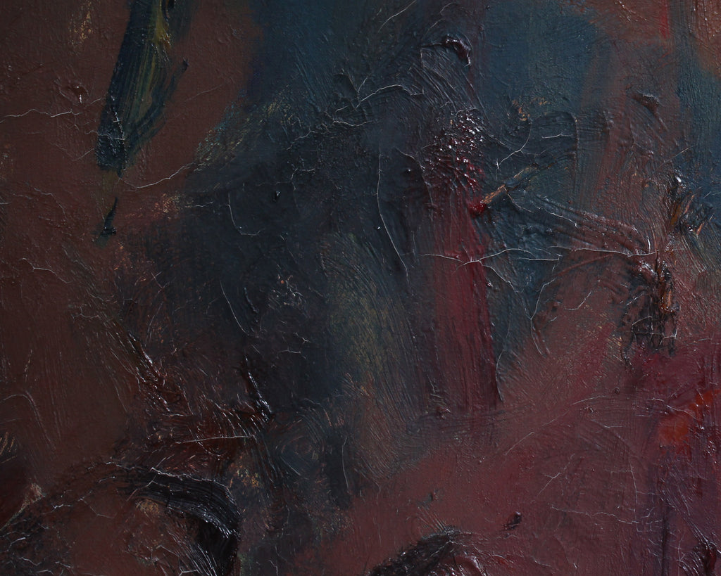 Jerry Pinsler 1965 Oil on Canvas Abstract Painting