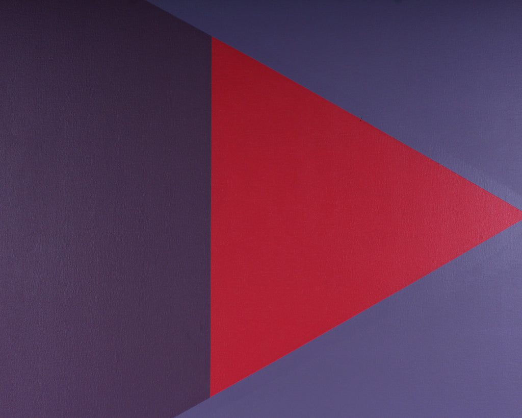 "Walter Stomps 1970s ""Triangle B No. 2"" Acrylic on Canvas Painting"