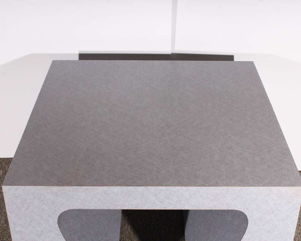 Postmodern Lilac Laminate Side Table