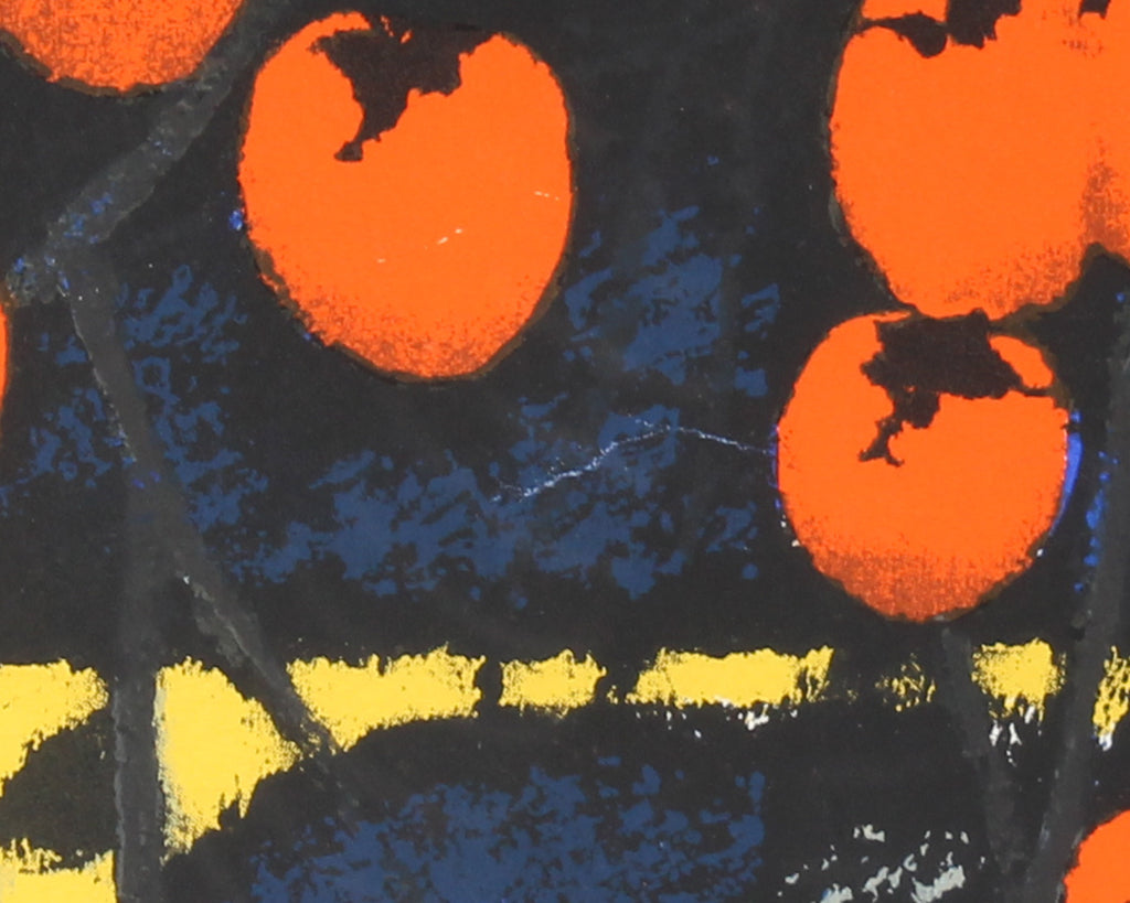 "Bong Kyu-Ahn 1998 Signed Limited Edition ""Persimmons"" Lithograph"