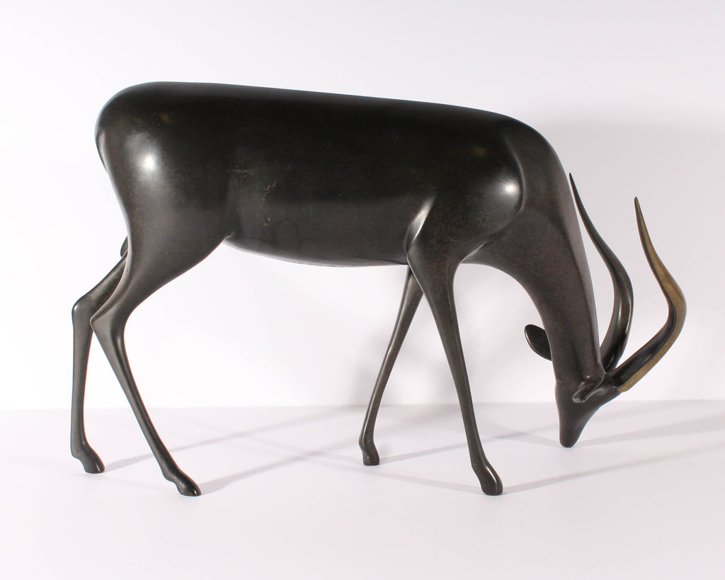 Loet Vanderveen Signed Limited Edition Bronze Antelope Sculpture