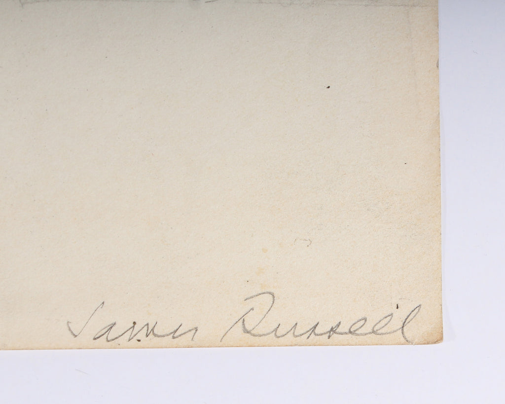 James Spencer Russell Signed Graphite Drawing
