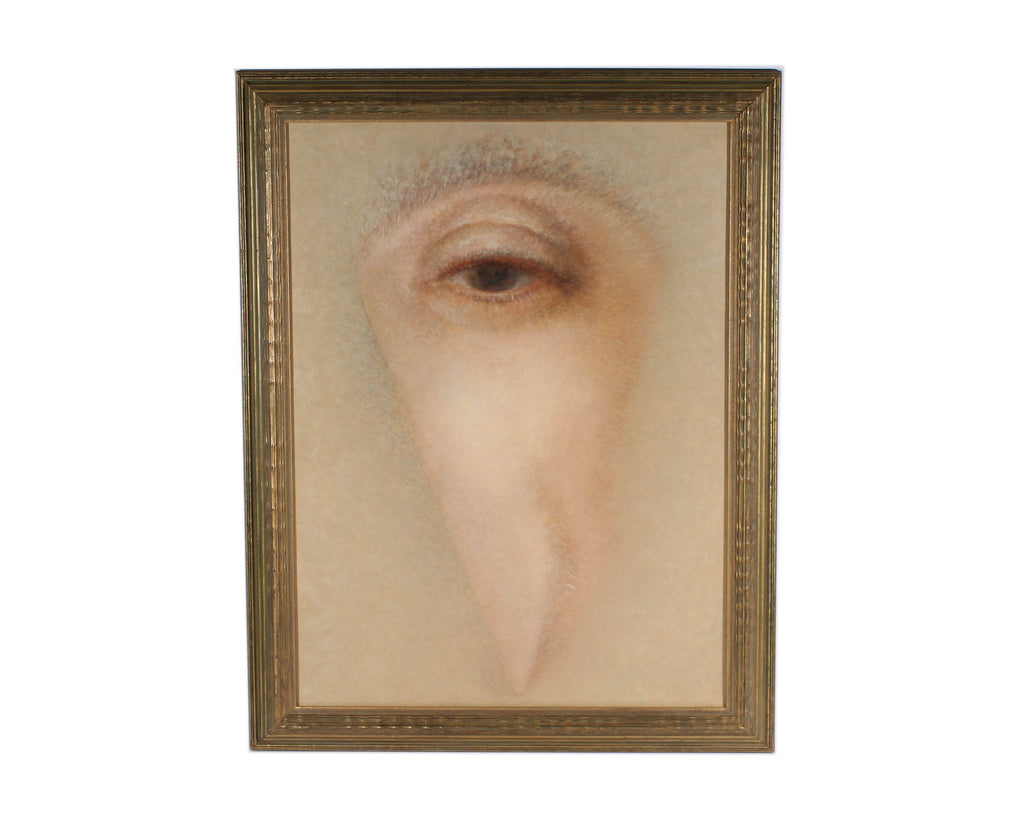 Ann Marie Booe Signed Oil on Canvas Surrealist Eye Painting