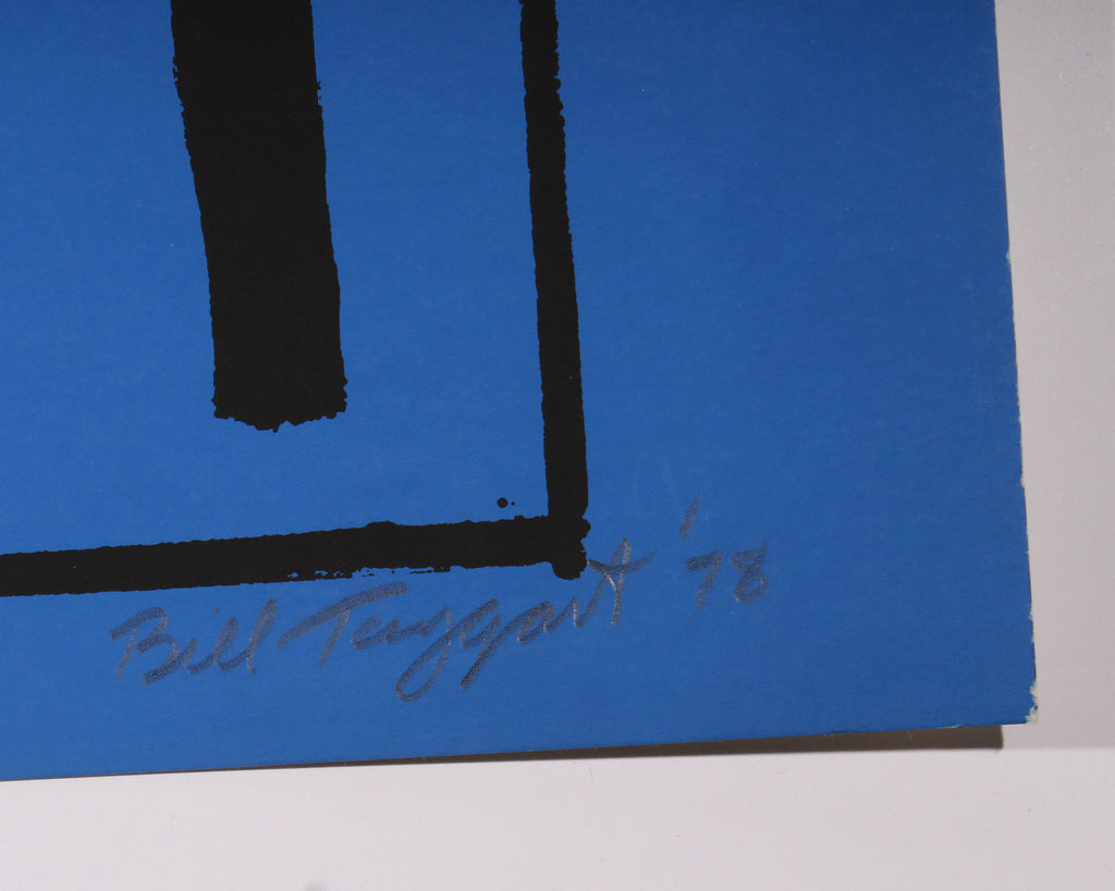 William Taggart 1978 Signed Limited Edition Abstract Serigraph