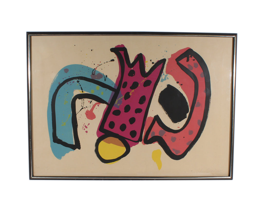 Alan Davie 1956 Signed Limited Edition Abstract Lithograph