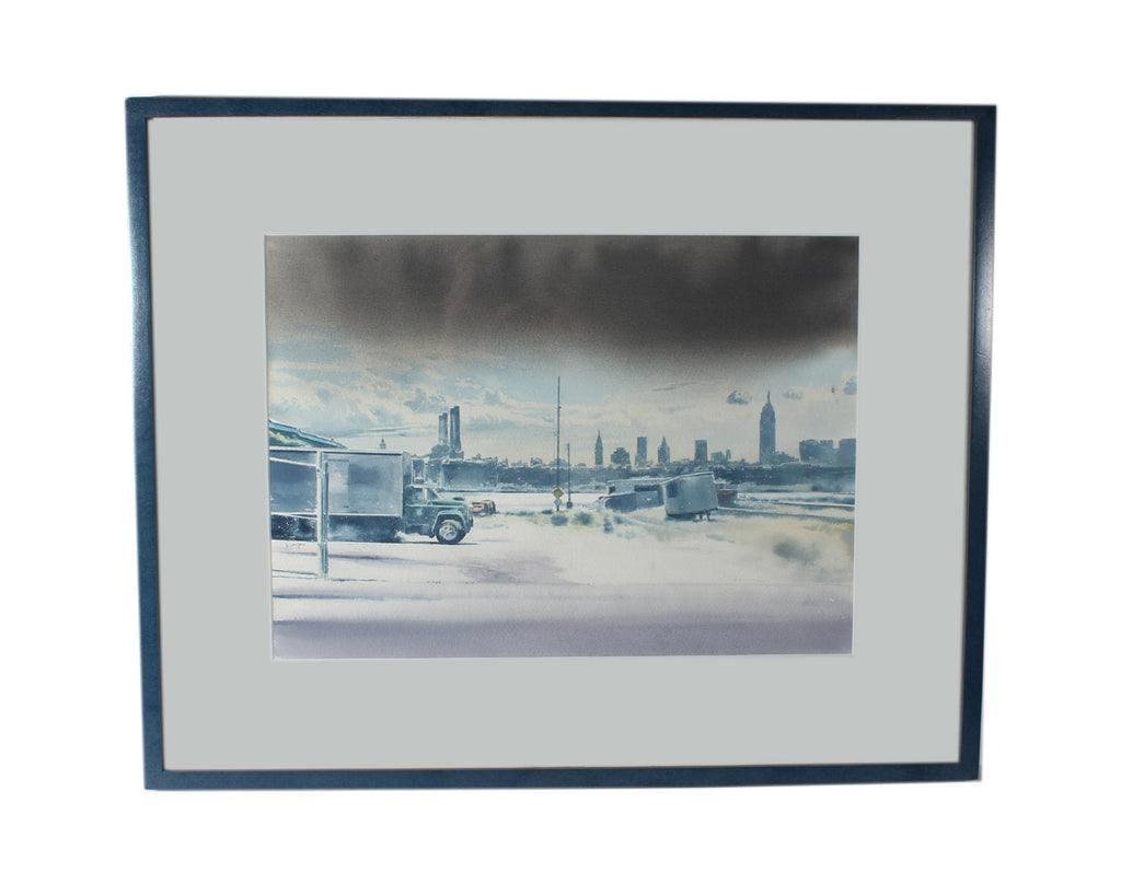 Jonathan Janson 1989 Signed Watercolor Cityscape