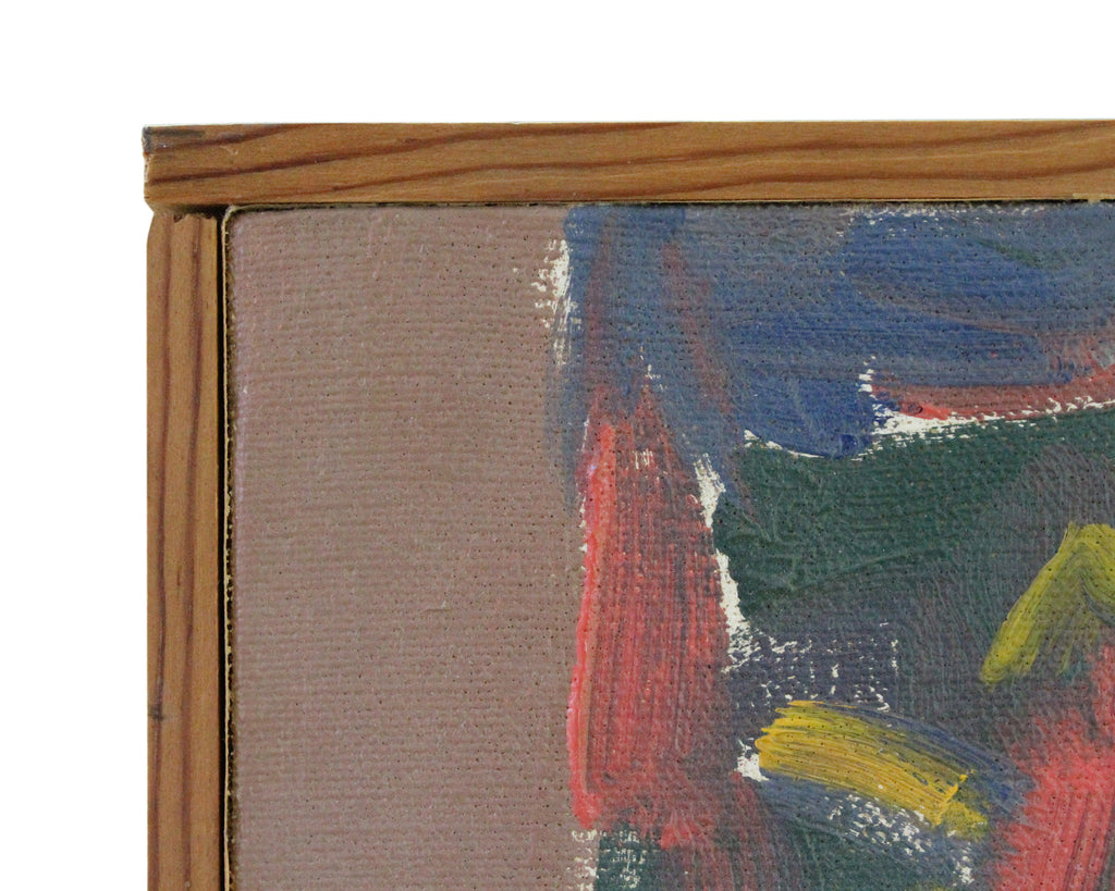 Mid-Century Oil on Canvas Abstract Nude Painting